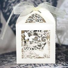 50 Butterfly Laser Cut Wedding Anniversary Party Cake Candy Favour Gift Box