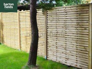 Contemporary Garden Screens, Modern Treated Fence Panels, The Monaco 180x150cm