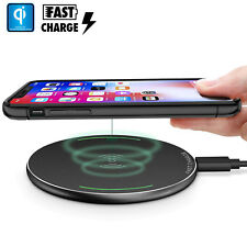 Wireless Fast QI Cellphone Charger Cordless Charging Pad Phone Iphones/Samsung