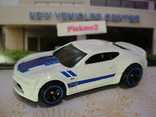'16 CAMARO SS 2016✰white chevy;blue rim mc5✰Fifty✰2017 Hot Wheels LOOSE