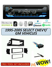 JVC KD-TD71BT Stereo Kit for Select 1995-2005 GMC CHEVROLET Vehicles, ALEXA