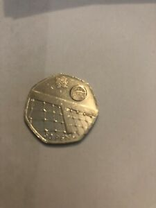 2011 OLYMPIC GAMES TENNIS 50P FIFTY PENCE - OFFICIAL UK ISSUE