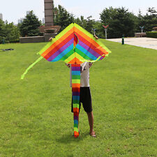 95x160 cm Regenbogen Drachen Kite Für Kinder Outdoor Spiele Sommer Geschenk