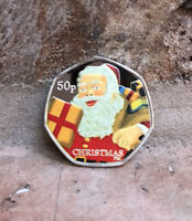 2011 Isle Of Man Father Christmas 50p Coin - AS STRUCK Read Details Kew Gardens