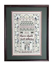 "Cross Stitch Sampler Petit Point Folk Art Thou Shalt Not Whine 9 X 14"""