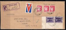 SOUTH AFRICA 1941 REGISTERED FDC ESHOWE BELFAST, MAINE