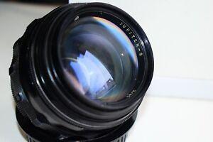 JUPITER-9 85mm f/2 EXPORT BLACK Edition Russian SLR lens (Pentax, Zenit) M42 EXC