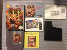 Bad Dudes nintendo NES Cleaned and Tested COMPLETE cib