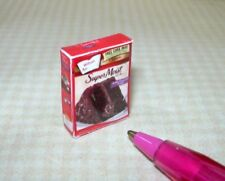 Miniature Chocolate Cake Mix Box: DOLLHOUSE 1/12 Scale