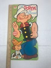 """Vintage 1972 """"I'm Popeye the Sailorman!"""" Color and Read Book by Whitman"""