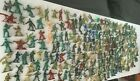 Vintage  Plastic Toy Army Men AND TANKS Lot of 240-- 2 AND 1.75 INCH