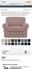 Easy-going 2 Piece Stretch Slipcover For Chair-pink