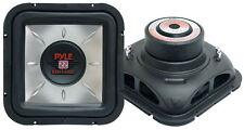 1 New Pyle PLSQ12D 12'' 1400 Watt Square DVC Subwoofer Sub Car Audio