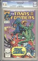 Marvel Comics TRANSFORMERS #44 CGC 9.6 NM (1988) White Pages
