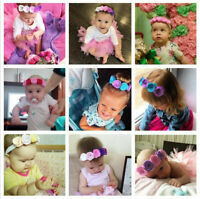 Band Rope Hair Color Headband Children Hair Flower Elastic Solid Clasp Baby