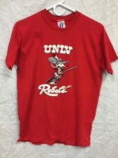 UNLV Rebels Vintage Red Shirt 1980's University of Las Vegas Medium Thin VTG