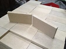 """Hunter Stove Fire Bricks, Pack of 10-4.5"""" x  9"""" x 1"""" thick Vermiculite. Villager"""