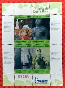 ZAYIX - 2008 Costa Rica 621 MNH souvenir sheet - Art