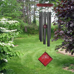 "Woodstock CHIMES OF MARS BLACK WIND CHIMES, Total Hanging Length 17""        #dm"