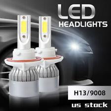 2x H13 9008 LED Headlight Bulbs Conversion Kit High Low Beam 6000K 100W 20000LM