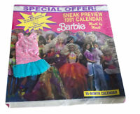 1991 Barbie 15 Month Calendar with Dress Sealed