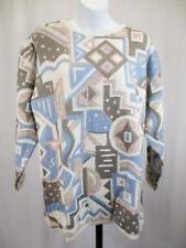 L - Vintage 80's Womens Funky Aztec Sweater Grunge Granny Pullover Retro - C886
