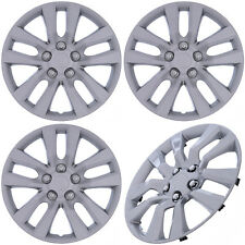 "(Set of 4 Piece) SILVER Hub Caps Fits OEM 16"" Steel Wheel Cover Cap Covers"