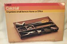 Vintage 1970s Desk Drawer Organizer Retro Office Decor Smoke Brown