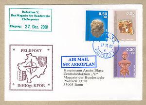 Feldpostbrief der KFOR aus Kosovo aus 2000