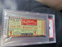 1950 World Series Game One Ticket Stub PSA Encapsulated