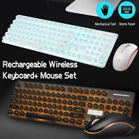 2.4G Wireless Waterproof LED Gaming Keyboard Mouse Pad Set for Desktop PC Laptop