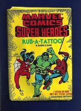 RARE 1980 Donruss MARVEL SUPER HEROES Rub A Tattoo UNOPENED PACK FREE SHIP