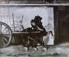 Horse and Cart, Copy of Théodore Géricault, Magic Lantern Glass Slide