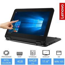 "Lenovo WinBook 300e 11.6"" Touch Convertible Notebook Intel Quad Core 4gb RAM, 64gb"