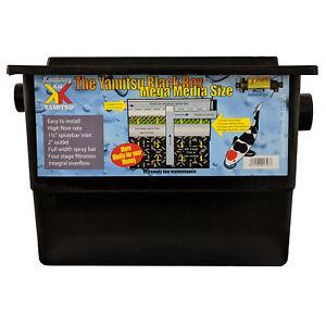 Kockney Koi Mega Black Box Pond Filter High Flow Rate Easy Fish Koi Garden