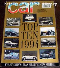 Car 2/1994 - Maserati Ghibli v M3 v C36 AMG v S2 MR-2 Ferrari 308 GT4