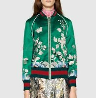 Fashion Womens Floral Coats Zip Embroidery Bomber Baseball Jackets Outdoors New