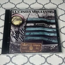 Ramblin', Lucinda Williams Autograph Signed CD