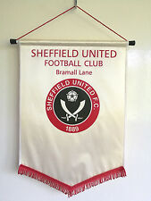 Sheffield United Football Club Angleterre vintage rare taille 1994 ans Pennant (40x28)