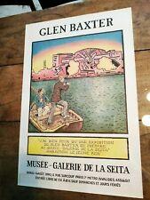 Affiche d'Exposition   Glen BAXTER   1990   Musée Galerie de la SEITA
