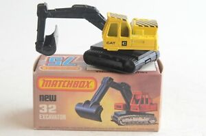 Matchbox Lesney New 32 Excavator - Made In England - Boxed - (B49)