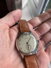 Vintage Mens Mulco Swiss Mechanical Wristwatch - 1940s 15 Jewel Military Style
