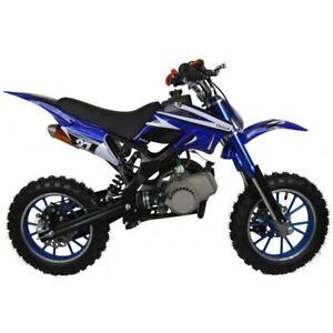 BRAND NEW - 50cc Petrol Mini Kids Dirt Motorbike, Mini Moto, Scooter – Blue