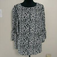 Who What Wear Plus Size Womens Peasant Boho Blouse Top size 2X Floral