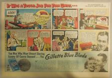 Gillette Razor Ad: Construction Worker Romance, It Was A Tough Job ! from 1940's