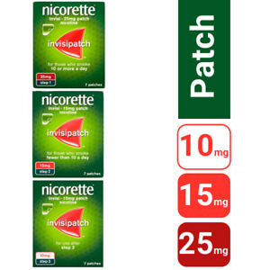Nicorette patches step 1, 2, 3    £8.99 a packet