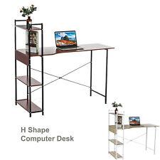 Office Computer Study Desk Table Workstation Storage + 4 Tiers Shelf Bookshelf