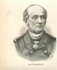 Amiral Jean Bernard Jauréguiberry 1814-1887  guerre de 1870 GRAVURE 1883