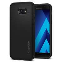 Coque Samsung Galaxy A5 2017, Spigen® [Liquid Air] Coussin d'air [Noir] Flexible