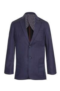 Mens cotton linen jacket blazer tailored suit jacket blue vintage retro wedding